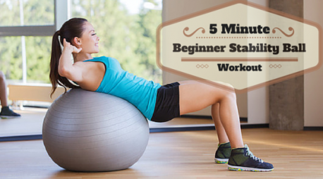 5 Minute Beginner Stability Ball Workout l www.destinationfittraining.ca