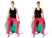 Pelvic Floor Clocks With Stability ball
