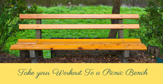 Take your workout to a picnic bench l www.destinationfittraining.ca